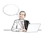 drawing businessman