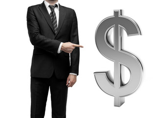 businessman and dollar symbol