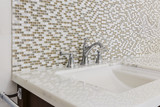 Fototapety Contemporary bathroom sink and fixture