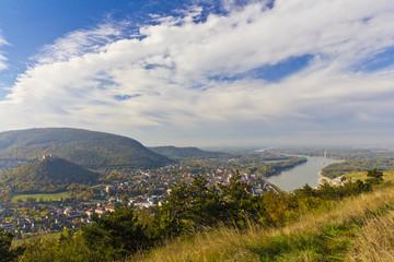 Hainburg town landscape view