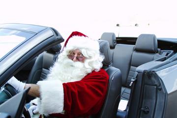 Santa in convertible