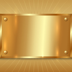 Vector Metallic Golden Plate