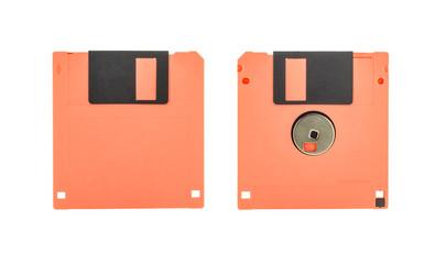 Orange floppy disk