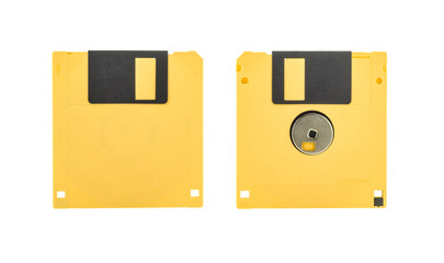 Yellow floppy disk