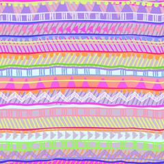neon tribal stripe ~ seamless vector background