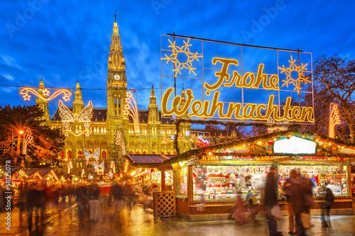 Aluminium Wenen Christmas market in Vienna