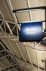 Customer Service Center Sign Marker Public Building Architecture