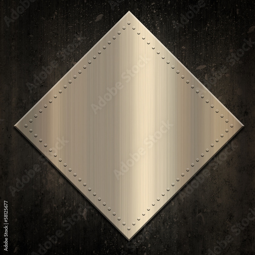 Gold metallic background on grunge