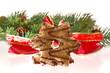 Weihnachtsstern Kekse Schleife