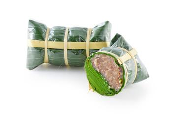 Sour pork : Thai northeastern style food which mixed pork rice g