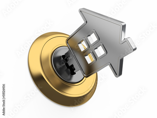 Home key in keyhole