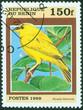 stamp printed by Benin, shows bird