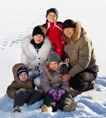 Family in the winter