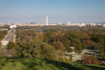 Washington DC panorama - Aerial view of Arlington Hill