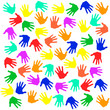 Multi-colored hands - Vector illustration
