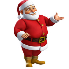3d cartoon santa