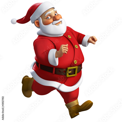 3d cartoon santa run