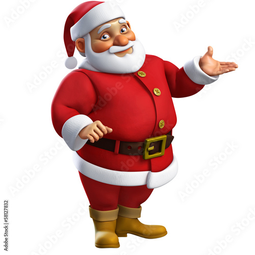 Fotobehang Sweet Monsters 3d cartoon santa