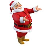 3d cartoon santa