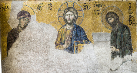 мозаика деисус из святой Софии