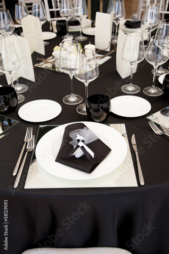 A table set for a reception - 58129093