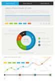 elements of infographics — Stock Vector