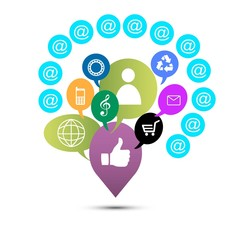 иллюстрация социальные сети