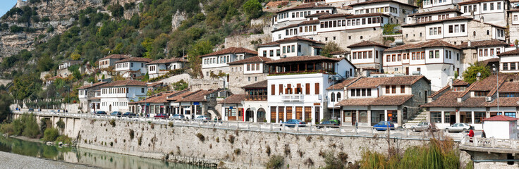 Ottoman houses in the Mangalemi district of Berat