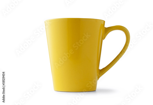 Yellow ceramic cup