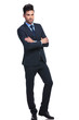 confident young business man standing with hands crossed