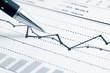 Leinwanddruck Bild - Financial graphs