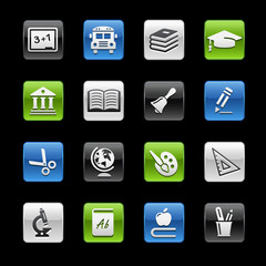 School and Education Icons -- Gelbox Series
