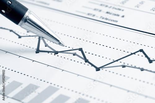 Leinwanddruck Bild Financial graphs