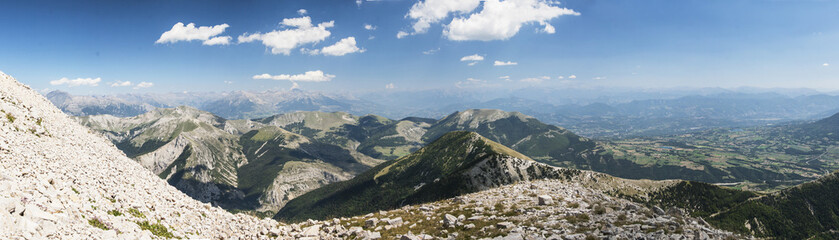 Panoramatic view of Hautes Alpes France..