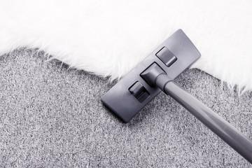 Vacuuming furry carpet