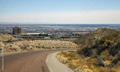 Deurstickers Blick auf El Paso