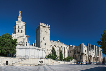 Avignon pope's palace, famous christian landmark in France..