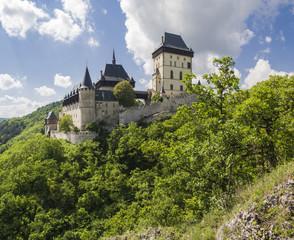 Karlstejn castle in summer