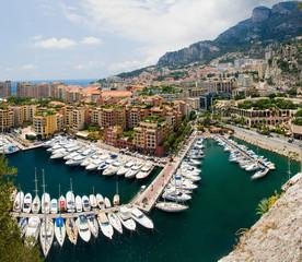 Monaco port de fontvielle, famous port in Monaco..