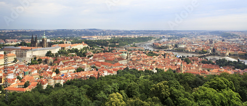 Panorama of historical center of Prague.