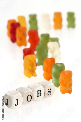Gummy Bear series - seek for jobs (conceptual)
