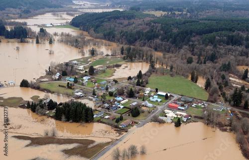 Leinwanddruck Bild Washington State Flood