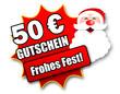 """Siegel """"50 Euro Gutschein - Frohes Fest!"""""""