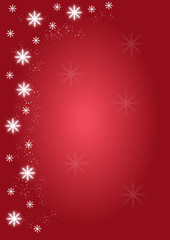Background Christmas snowflakes red