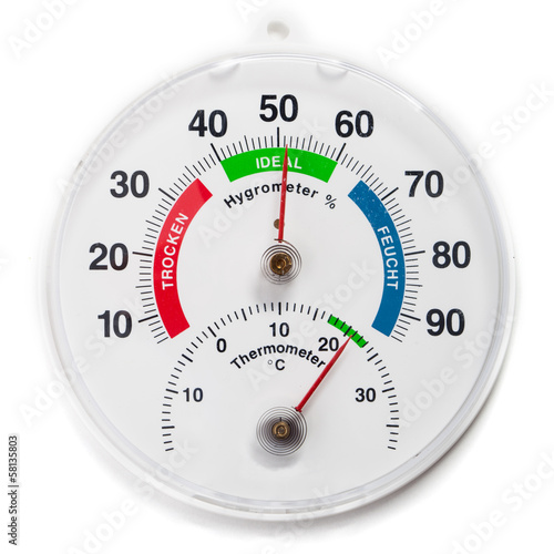 Analoges Hygrometer und Thermometer