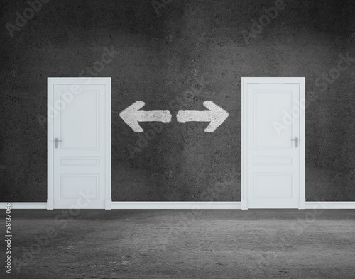 door and arrow