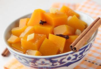 Pumpkin marinated with cinnamon