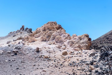 White rocks in Park Canadas del Teide. Tenerife. Spain