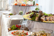 Catering at wedding reception