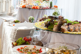 Fototapety Catering at wedding reception